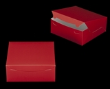 "2917 - 10"" x 10"" x 4"" Red/White without Window, Lock & Tab Box With Lid. A27"
