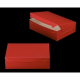 "2925 - 14"" x 10"" x 4"" Red/White without Window, Lock & Tab Box With Lid"
