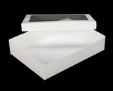 "294x293 - 19"" x 14"" x 4"" White/White Lock & Tab Box Set with Window, 50 COUNT. A19xA09"