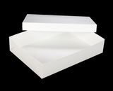 "294x397 - 19"" x 14"" x 4"" White/White Lock & Tab Half Sheet Cake Box Set without Window, 50 COUNT"