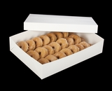 "294x397 - 19"" x 14"" x 4"" White/White Lock & Tab Donut Box Set without Window, 50 COUNT"