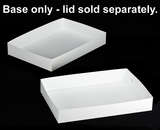 "296 - 26"" x 18"" x 4"" White/White Lock & Tab Full Sheet Cake Box, Base Only, 50 COUNT"