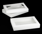 "296x295 - 26"" x 18"" x 4"" White/White Lock & Tab Box Set with Window 50 COUNT. A26xA17"