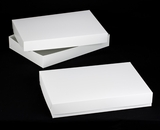 "296x396 - 26"" x 18"" x 4"" White/White Lock & Tab Box Set without Window, 50 COUNT. A26xA25"