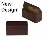 """3039 - 8"""" x 4"""" x 4"""" Chocolate/Brown without Window, Lock & Tab Box With Lid"""