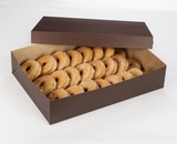 "3045x3048 - 19"" x 14"" x 4"" Chocolate/Brown Lock & Tab Donut Box Set without Window, 50 COUNT"