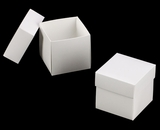 "3059x2889 - 3/4# Candy Box Set White/White 4"" x 4"" x 4"" Simplex Box Set, without Window"