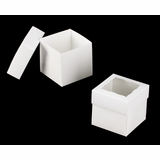 "3059x3488 - 4"" x 4"" x 4"" White/White Two Piece Simplex Box Set, with Window"