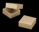 "3068x2893 - 4 oz Candy Box Set Brown/Brown 4"" x 4"" x 1 3/4"" Simplex Box Set, without Window"