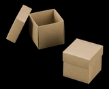 "3069x2893 - 3/4# Candy Box Set Brown/Brown 4"" x 4"" x 4"" Simplex Box Set, without Window"