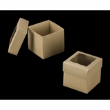 "3069x3489 - 4"" x 4"" x 4"" Brown/Brown Piece Simplex Box Set, with Window"