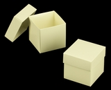 "3106x2892 - 3/4# Candy Box Set Butter Cream/White 4"" x 4"" x 4"" Simplex Box Set, without Window"