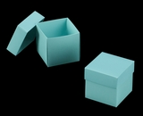 "3102x2891 - 3/4# Candy Box Set Diamond Blue/White 4"" x 4"" x 4"" Simplex Box Set, without Window"