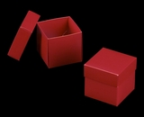 "3105x2906 - 3/4# Candy Box Set Red/White 4"" x 4"" x 4"" Simplex Box Set, without Window"