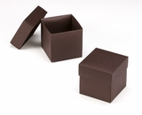 "3106x2892 - 3/4# Candy Box Set Chocolate/Brown 4"" x 4"" x 4"" Simplex Box Set, without Window"