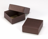 "3108x2892 - 4 oz Candy Box Set Chocolate/Brown 4"" x 4"" x 1 3/4"" Simplex Box Set, without Window"
