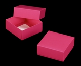"3109x2877 - 4"" x 4"" x 1 3/4"" Pink/White Two Piece Simplex Box Set, without Window"