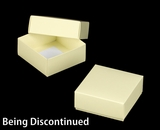"3110x2907 - 4"" x 4"" x 1 3/4"" Butter Cream/White Piece Simplex Box Set, without Window"