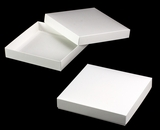 "3153x2894 - 10"" x 10"" x 1 3/4"" White/White Two Piece Simplex Box Set, without Window"
