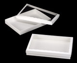 "3154x3539 - 14"" x 10"" x 1 3/4"" White/White Two Piece Simplex Box Set, with Window"