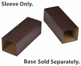 "3167 - 6"" x 2 1/4"" x 2"" Chocolate/Brown Macaron Box Sleeve Only, without Window. B03"