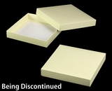 "3206x2914 - 1 1/2# Candy Box Set Butter Cream/White 10"" x 10"" x 1 3/4"" Simplex Box Set, without Window"
