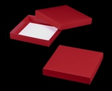 "3207x2913 - 10"" x 10"" x 1 3/4"" Red/White Two Piece Simplex Box Set, without Window"