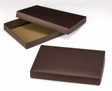 "3209x2903 - 14"" x 10"" x 1 3/4"" Chocolate/Brown Two Piece Simplex Box Set, without Window"