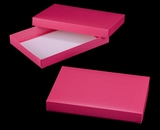 "3210x2878 - 14"" x 10"" x 1 3/4"" Pink/White Two Piece Simplex Box Set, without Window"
