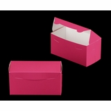 "3243 - 8"" x 4"" x 4"" Pink/White without Window, One Piece Lock & Tab Box With Lid"