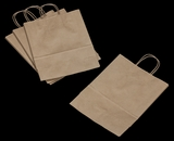 "3246 - Debbie Kraft Shopping Bag with Handle 10"" X 5"" X 13"" - 100ct. A11"