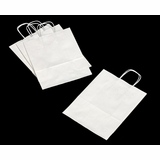 3247 - Debbie White Shopping Bag with Handle 10 X 5 X 13 - 100ct