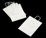 "3247 - Debbie White Shopping Bag with Handle 10"" X 5"" X 13"" - 100ct. A11"