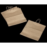 "3252 - Grande Kraft Shopping Bag with Handle 16"" x 11"" x 18 1/4"" - 100ct"