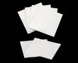 "3255 - 4"" x 4"" Candy Pad, White with White Core, 3-Ply Glassine Candy Box Liner. B01"