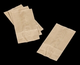 3260 - 4 LB  Wax Coated Kraft SOS Bag 5 x 3 1/8 x 9 11/16  - 100ct