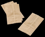 3261 - 6 LB Wax Coated Kraft SOS Bag 6 x 3 5/8 x 11 - 100ct