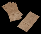 3262 - 8 LB  Wax Coated Kraft SOS Bag 6 1/8 x 4 x 12 3/8 - 100ct