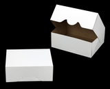 "3314 - 9"" x 7"" x 3 1/2"" White/Brown without Window, Timesaver Box With Lid. A21"