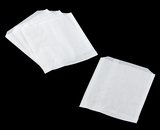 "3319 - 6"" x 3/4"" x 6 1/2"" Pastry / Cookie Bag, Grease Resistant, White - 1000ct"