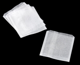 "3325 - 6"" x 3/4"" x 6 1/2"" Pastry / Cookie Bag, Dry Wax, White - 1000ct"
