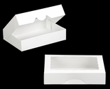 "3337 - 11 1/2"" x 8 1/4"" x 2 1/2"" White/White with Window, Timesaver Box With Lid"
