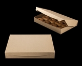 "3342 - 16"" x 11 1/2"" x 2 1/2"" Brown/Brown Lock & Tab Donut Box without Window"