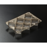 "3363 - 7"" x 4 1/2"" x 7/8"" Gold 8 Cavity Candy Tray"