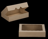 "3367 - 11 1/2"" x 8 1/4"" x 2 1/2"" Brown/Brown with Window, Timesaver Box With Lid"