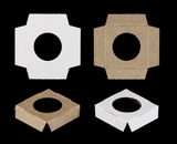 "3369 - 2 1/2"" x 2 1/2"" Single Skinny Mini Cupcake Insert,  Reversible White/Brown"