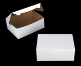 "3383 - 10"" x 7"" x 4"" White/Brown without Window, Lock & Tab Box With Lid"