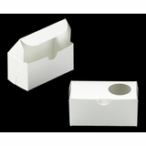 "3384 - 5"" x 2 1/2"" x 2 1/2"" White/White with Window, One Piece Lock & Tab Box With Lid"