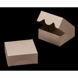 """3394 - 6"""" x 6"""" x 2 1/2"""" Brown/Brown without Window, Timesaver Box With Lid"""