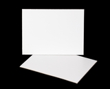 3395 - 12 x 9 Inch Cake Board, White Single Wall Corrugated with Feather Cut Edges